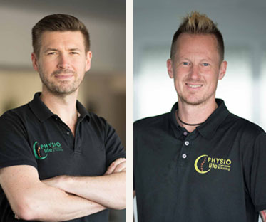 Carsten Hinz und Jan Jerosch - Team PHYSIOlife Physiotherapie Essen